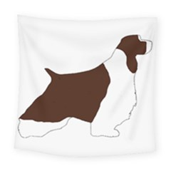 English Springer Spaniel Silo Color Square Tapestry (Large)