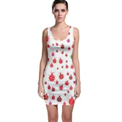 Beetle Animals Red Green Fly Sleeveless Bodycon Dress