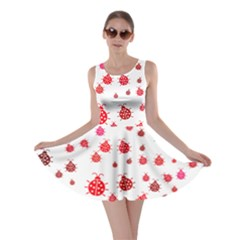 Beetle Animals Red Green Fly Skater Dress