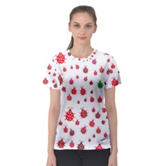 Beetle Animals Red Green Fly Women s Sport Mesh Tee