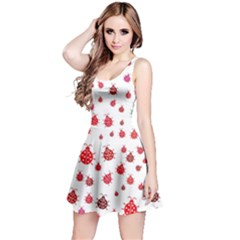 Beetle Animals Red Green Fly Reversible Sleeveless Dress