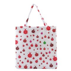 Beetle Animals Red Green Fly Grocery Tote Bag