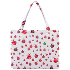 Beetle Animals Red Green Fly Mini Tote Bag