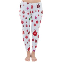 Beetle Animals Red Green Fly Classic Winter Leggings