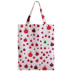 Beetle Animals Red Green Fly Zipper Classic Tote Bag