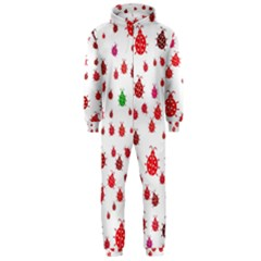 Beetle Animals Red Green Fly Hooded Jumpsuit (men)