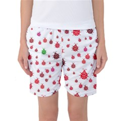 Beetle Animals Red Green Fly Women s Basketball Shorts