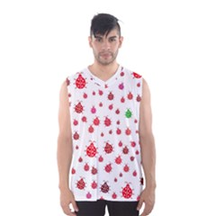 Beetle Animals Red Green Fly Men s Basketball Tank Top