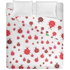 Beetle Animals Red Green Fly Duvet Cover Double Side (california King Size)