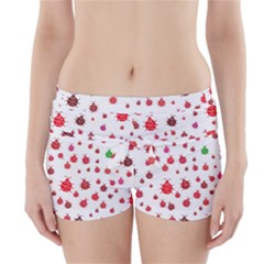 Beetle Animals Red Green Fly Boyleg Bikini Wrap Bottoms