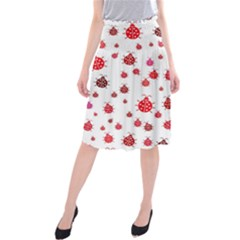 Beetle Animals Red Green Fly Midi Beach Skirt