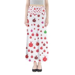 Beetle Animals Red Green Fly Maxi Skirts