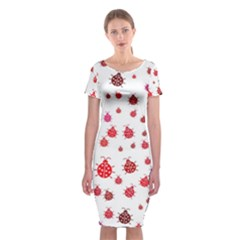 Beetle Animals Red Green Fly Classic Short Sleeve Midi Dress