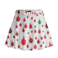 Beetle Animals Red Green Fly Mini Flare Skirt
