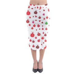 Beetle Animals Red Green Fly Midi Pencil Skirt