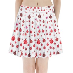 Beetle Animals Red Green Fly Pleated Mini Skirt