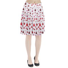 Beetle Animals Red Green Fly Pleated Skirt