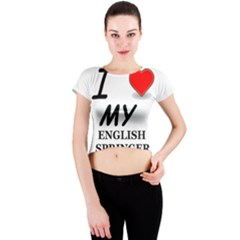 Eng Spr Sp Love Crew Neck Crop Top