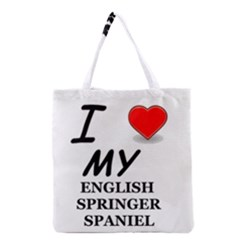 Eng Spr Sp Love Grocery Tote Bag