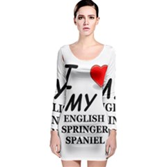 Eng Spr Sp Love Long Sleeve Bodycon Dress