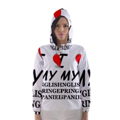 Eng Spr Sp Love Hooded Wind Breaker (Women)