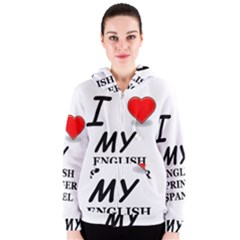 Eng Spr Sp Love Women s Zipper Hoodie