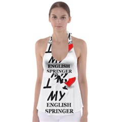 Eng Spr Sp Love Babydoll Tankini Top