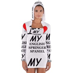 Eng Spr Sp Love Women s Long Sleeve Hooded T-shirt
