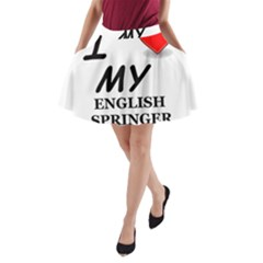 Eng Spr Sp Love A-Line Pocket Skirt
