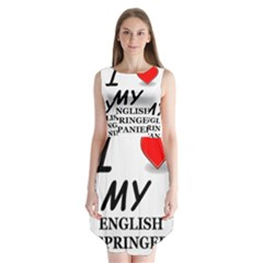 Eng Spr Sp Love Sleeveless Chiffon Dress