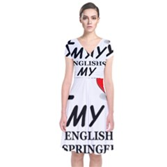 Eng Spr Sp Love Short Sleeve Front Wrap Dress
