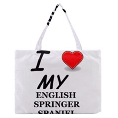 Eng Spr Sp Love Medium Zipper Tote Bag