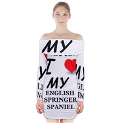 Eng Spr Sp Love Long Sleeve Off Shoulder Dress