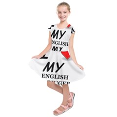 Eng Spr Sp Love Kids  Short Sleeve Dress