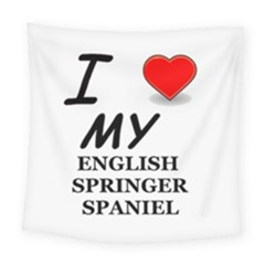 Eng Spr Sp Love Square Tapestry (Large)