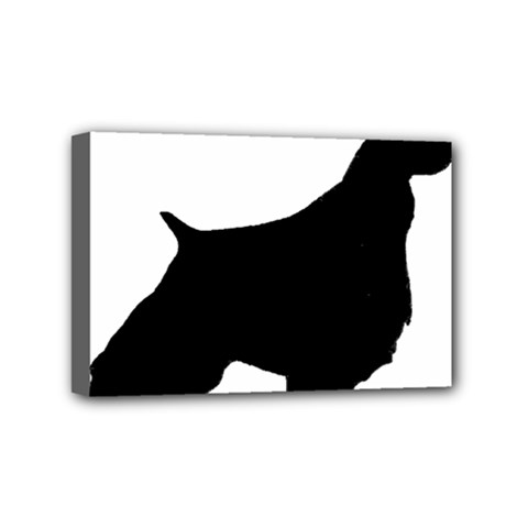 English Springer Spaniel Silo Black Mini Canvas 6  x 4