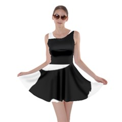 English Springer Spaniel Silo Black Skater Dress