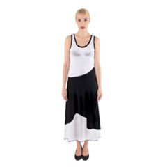English Springer Spaniel Silo Black Sleeveless Maxi Dress