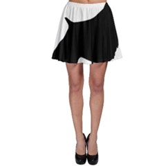 English Springer Spaniel Silo Black Skater Skirt