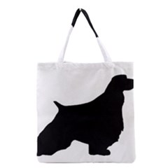 English Springer Spaniel Silo Black Grocery Tote Bag