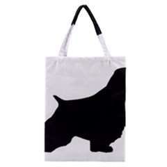 English Springer Spaniel Silo Black Classic Tote Bag