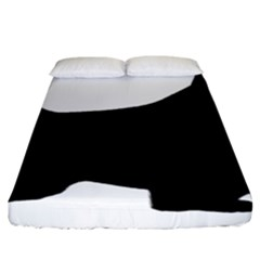 English Springer Spaniel Silo Black Fitted Sheet (King Size)