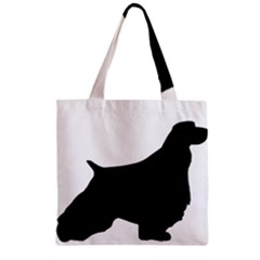 English Springer Spaniel Silo Black Zipper Grocery Tote Bag