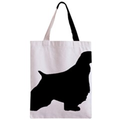 English Springer Spaniel Silo Black Zipper Classic Tote Bag