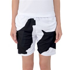 English Springer Spaniel Silo Black Women s Basketball Shorts