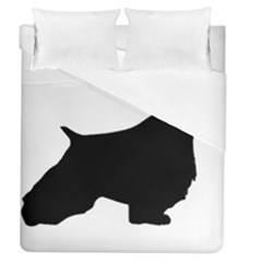 English Springer Spaniel Silo Black Duvet Cover (Queen Size)