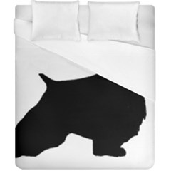 English Springer Spaniel Silo Black Duvet Cover (California King Size)