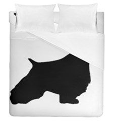 English Springer Spaniel Silo Black Duvet Cover Double Side (Queen Size)