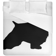 English Springer Spaniel Silo Black Duvet Cover Double Side (King Size)