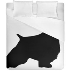 English Springer Spaniel Silo Black Duvet Cover Double Side (California King Size)